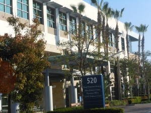 The entrance to the 520 superior building, home to OC Vascular Specialists